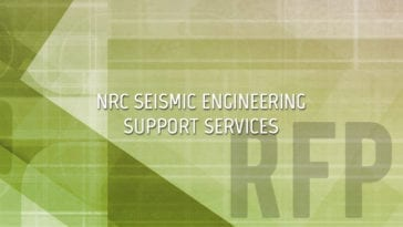 RFP for Seismic Engineering for Nuclear Facilities