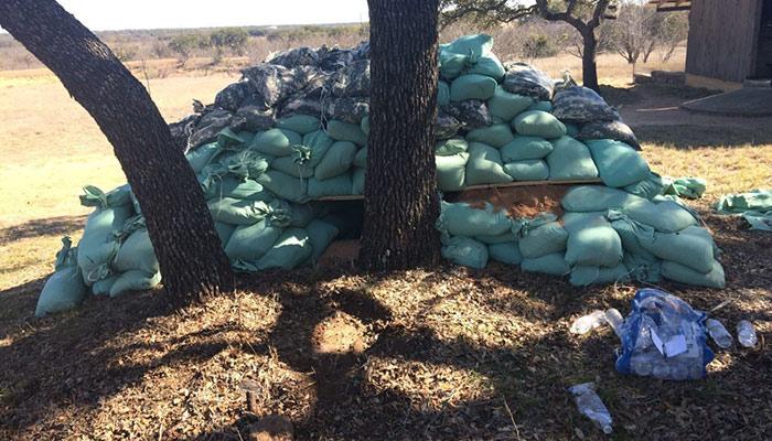 EOD Clears Landmine in Texas Near Barn