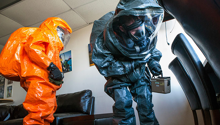 WMD Civil Support Team Conducts Sweep for CBRN Agents
