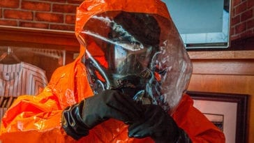 21st WMD CST Technician Collects Samples