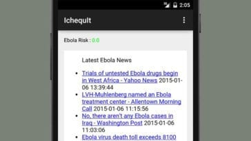 iChequit App for Real-Time Ebola Risk Assessment