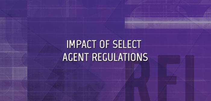 Impact of Select Agent Regulations