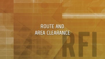 Explosives Route and Area Clearance