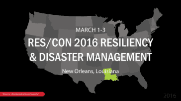RES/CON 2016 Resiliency and Disaster Management