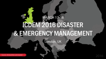 ICDEM 2016 Disaster & Emergency Management