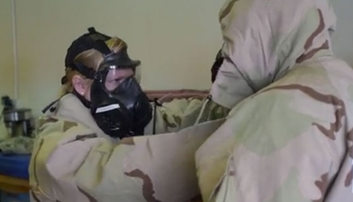 Oregon's 173rd Fighter Wing Trains in CBRN Gear