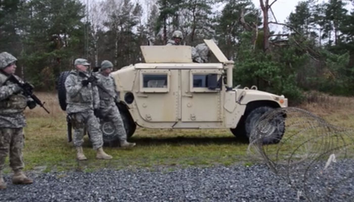 554th Military Police Company Training at Grafenwoehr
