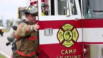 Camp Lejeune Firefighters Chemical Terrorism Drill