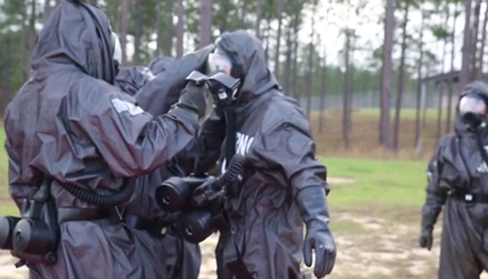 Reservists Conduct Training in CBRN Defense