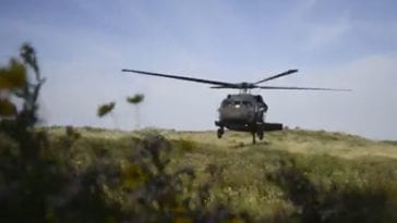 CERFP and Blackhawk Units Conduct Joint Search and Rescue Training