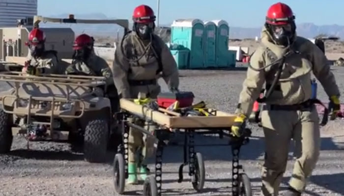 Post-Nuclear Accident Search and Rescue Training