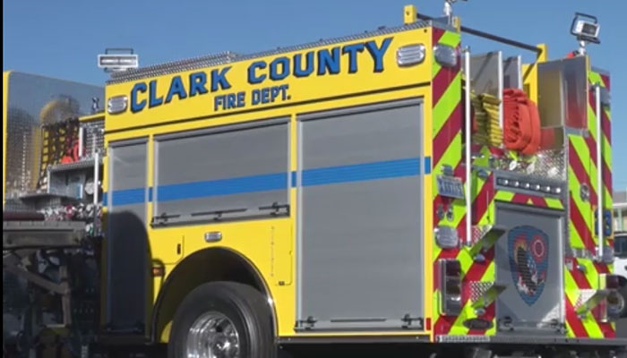 1440th Firefighting Detachment Trains with Clark County FIrefighters