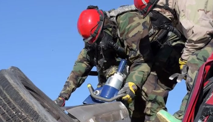 1440th Firefighting Detachment Conducts SAR Training