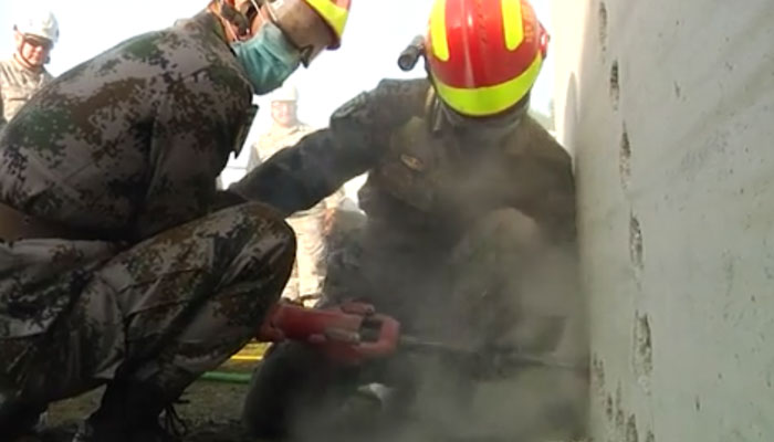 JBLM Disaster Search and Rescue Training with Chinese Soldiers