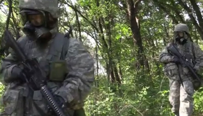 CBRN Soldiers Execute Reconnaissance During Red Dragon