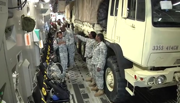 South Carolina Reservists Load a C-17 for Red Dragon