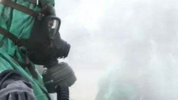 CBRN Troops from Romania Conduct Decontamination
