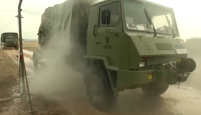 Spanish and Czech CBRN Troops Decon Vehicles
