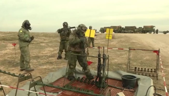 CBRN Military Weapons & Equipment Decontamination Area