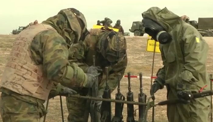 Spanish CBRN Troops Decon Weapons and Equipment
