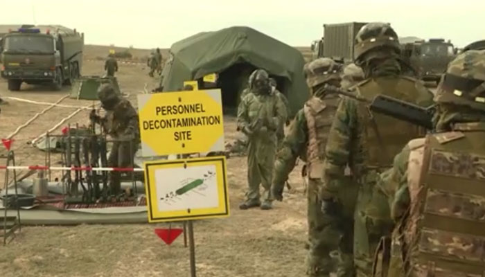 Spanish and Czech CBRN Troops Decon Weapons