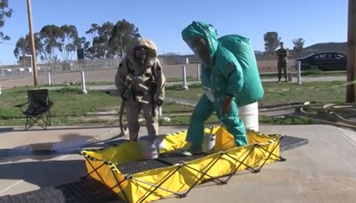 Marines Conduct CBRN Decontamination Training