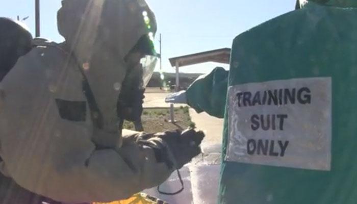 Marines Practice CBRN Decon Procedures at MCAS Miramar