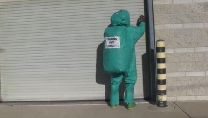 Marine Checking for CBRN Threats at a Facility