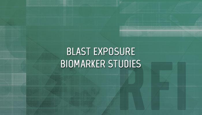 Blast Exposure Biomarker Studies