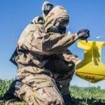 Marine Marking Off CBRN Contaminated Area