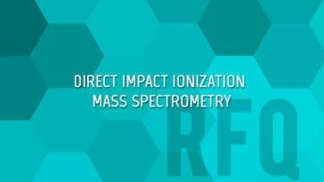 Direct Impact Ionization (DII) mass spectrometry (MS)