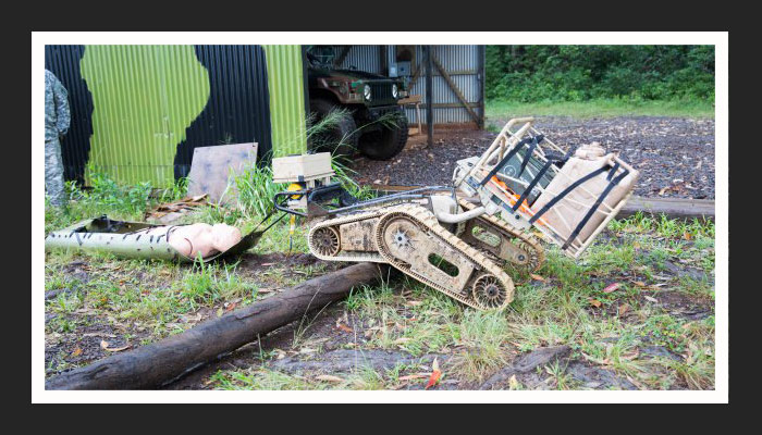 Military Testing Robotics Systems in Field