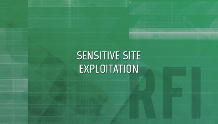 SOCOM Sensitive Site Exploitation Forensics