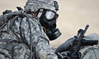 Stryker Brigade Soldiers Train in CBRN Masks