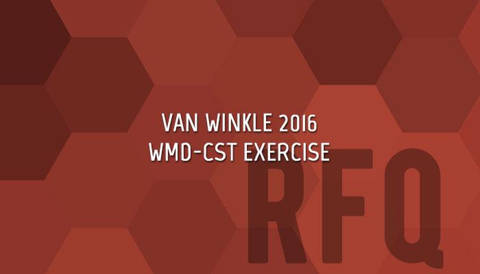 Van Winkle 2016 Civil Support Team Exercise