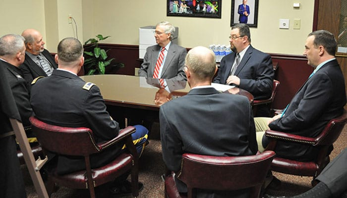 Blue Grass Chemical Depot Briefing with Mitch McConnell