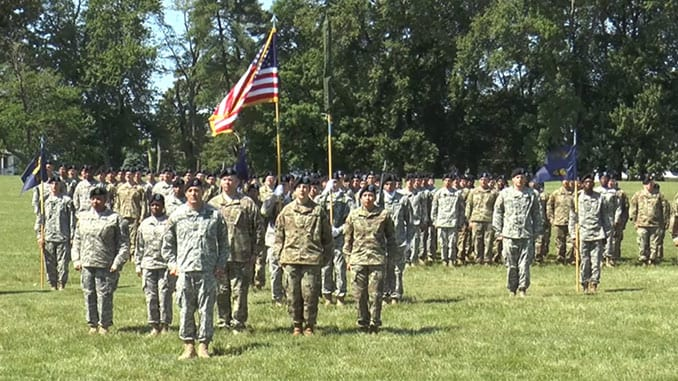 22nd CBRN Battalion Casing of the Colors