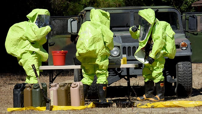 EOD and CBRN Training Exercise