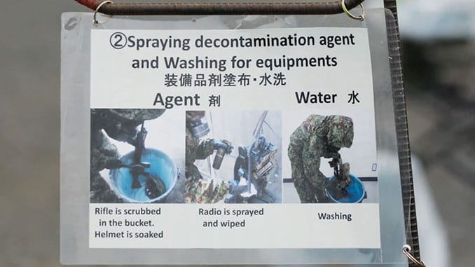 Decon Instructions for Joint U.S. and Japan CBRN Readiness Training Exercise