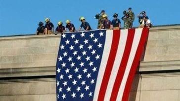 9-11 Pentagon Flag Unfurling