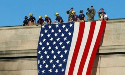9-11 Pentagon Flag Unfurling