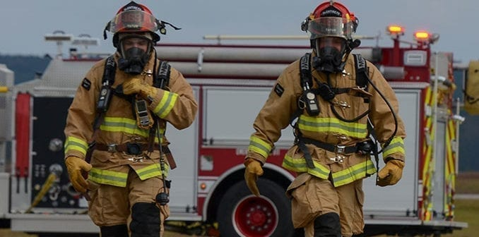 Firefighters During Air National Guard All-Hazards Response Exercise