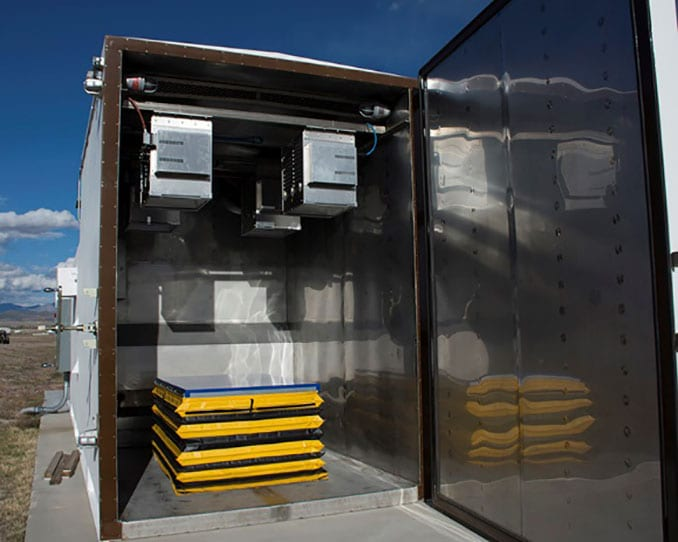 Dugway Solar Radiation Testing Chamber