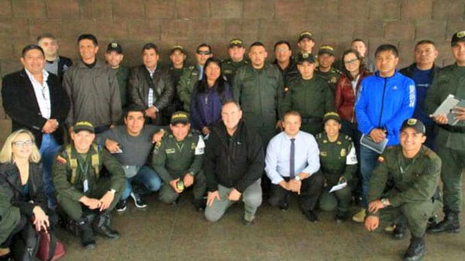Colombian and Peruvian police, customs and border forces training