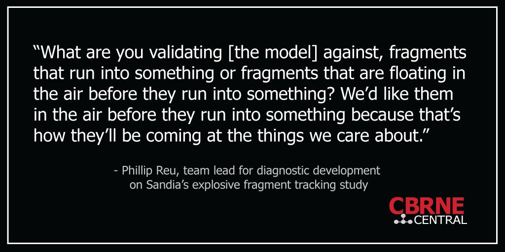 Sandia Explosive Fragment Modeling Quote