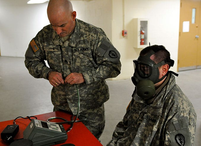 M41 Gas Mask Fit Testing