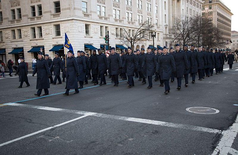 459 ARW Inauguration Parade Practice