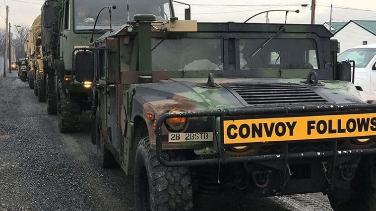 Pennsylvania National Guard Convoy Rolls Out for Presidential Inauguration