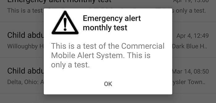 Mobile Wireless Emergency Alerts