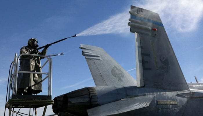 3rd MAW Aircraft Decontamination Training